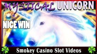 Mystical Unicorn Slot Machine Nice Bonus Win - WMS