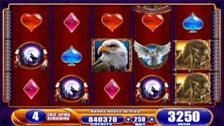 G+® Deluxe Great Eagle Returns™ Free Spin Bonus, Slot Machines By WMS Gaming