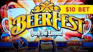 Beerfest Slot - $10 Bet - AWESOME BONUS, I PICKED WELL!