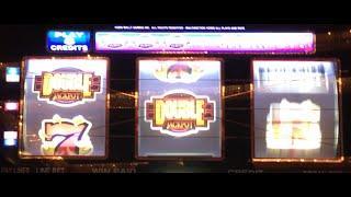 DOUBLE JACKPOT 777 •LIVE PLAY• Slot Machine Pokie at Caesars, Las Vegas