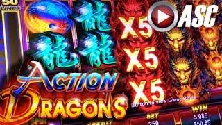 *NEW SLOT* ACTION DRAGONS | DEMO PLAY @AINSWORTH GAME TECHNOLOGY (Vegas) Slot Machine