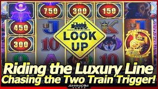Cash Express Luxury Line Slot Machine - Chasing the Two Train Trigger, Bonuses and Train Features