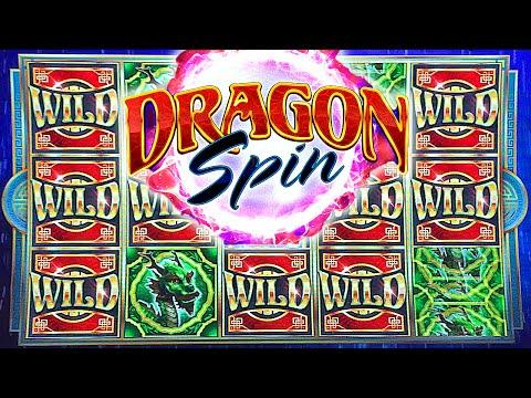 DRAGON SPIN SLOT MACHINE ALL BONUS FEATURES AND PROGRESSIVE WIN  Bally Technologies