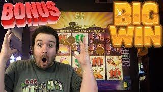 BUFFALO Live play BONUS FREE SPINS AND BIG WIN max bet slot machine