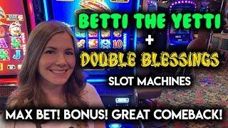 GREAT COMEBACK! Double Blessings Slot Machine + Betti The Yetti! $8.80/Spin BONUS
