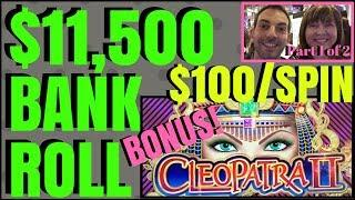 • 11,500 Bank Roll Group Pull • $100-$200/SPIN • High Limit Slot Pokie Machines EVERY FRIDAY 1 of 2
