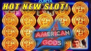 BIG WILD WINS ON AMERICAN GODS • HOT NEW SLOT MACHINE! • BONUSES & LIVE PLAY