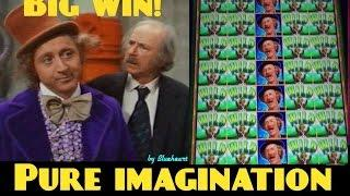 WILLY WONKA - PURE IMAGINATION slot machine FULL SCREEN GRANDPA WIN!