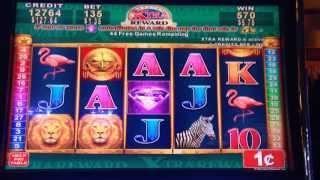 Great Africa - Konami Slot Machine Bonus Win - 50 Free Games