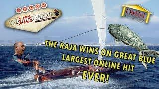 • BIGGEST ONLINE JACKPOT EVER! Great Wins on Great Blue •