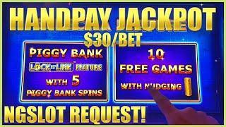 HIGH LIMIT SUPERLOCK Lock It Link Piggy Bankin' HANDPAY JACKPOT ⋆ Slots ⋆$30 BONUS EPIC COMEBACK For