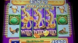 WMS Gaming - Game of Dragons II Slot Bonus Jackpot Handpay MAX BET
