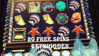 ** Mystical Mermaid ** Retrigger High Limit Slot Machine Free Spins Nice Big Win $20 Bet Bonus Slots