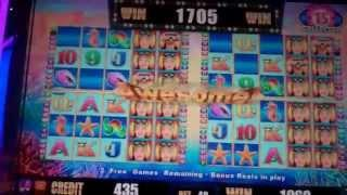 More Pearls Slot Machine Bonus - 15 Free Spins with 4 Sets of Reels - BIG WIN