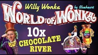 WORLD OF WONKA slot machine Oompa Loompa features and bonus wins!