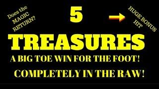 5 Treasures HUGE Multi-Bangin Bonus WIN!