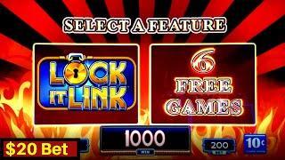 High Limit LOTERIA Lock It Link Slot Machine Bonuses