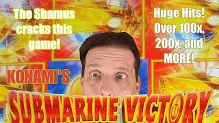 Submarine Victory - Giant 100x and 200x wins - Konami - By The Shamus