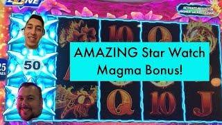 STAR WATCH MAGMA AMAZING BONUS! Double Diamond Jackpot Wins & Ruby Slippers Free Games