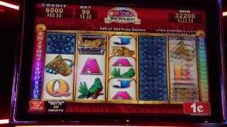 Mayan Chief - Konami Slot Machine Bonus Win - Final 25 spins of 354