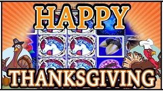 •Thousand Dollar THANKSGIVING• • HIGH LIMIT Slot Machine Pokies w Brian Christopher