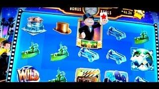Super Monopoly Bonus + Live Play + Wheel on 5c - WMS Video Slots