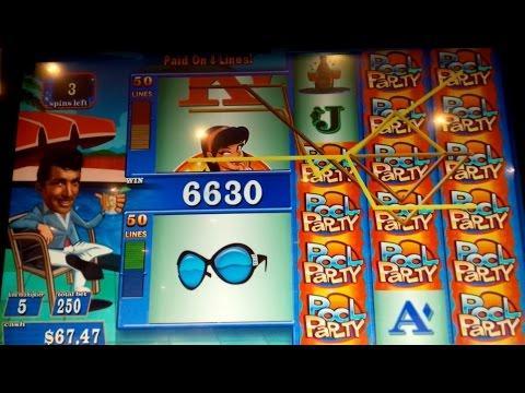 Dean Martin's Pool Party Slot Machine *100x BIG WIN* Live Play Bonus - $5 Max Bet!