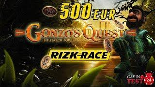 Full 500€ Gonzo's Quest Reel Race from Livestream