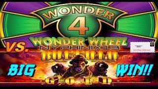 Wonder 4 Wonder Wheel vs. Buffalo Gold Slot Bonus BIG WIN!!