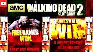 Aristocrat - AMC The Walking Dead 2 : Line Hit , 2 Normal Bonuses and 2 Jackpot Bonuses on Max Bet