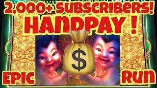 • Handpay Jackpot • 2000+ Sub Special Fu Dao Le Slot Machine Epic Run!!! 10 Denom Casino Pokies