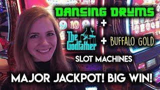 MAJOR JACKPOT! Dancing Drums Slot Machine! BIG WIN!!!