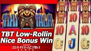 Tiki Talk Slot - TBT LOW-Rollin, Nice Free Spins Bonus Win
