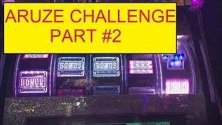 ARUZE $300 CHALLENGE PART #2 VS ALBERT SLOT AND SLOT TRAVELER!