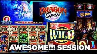 AWESOME!! SESSION - DRAGON SPIN - BY BALLY - 4 BONUSES