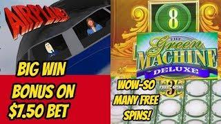 OUR RECORD OF FREE SPINS ON GREEN MACHINE! BIG WIN AIRPLANE