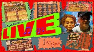 L I V E..GEORGE. ......Wow!  YouTube Here we Come........Scratchcard  PRIZE DRAW.....meet Albert.etc
