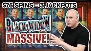 ⋆ Slots ⋆ $75 Spins Bring Me THREE JACKPOT HANDPAYS ⋆ Slots ⋆ Black Widow Slots FTW