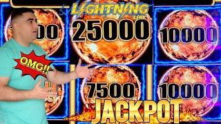 Tiki Fire LIGHTNING LINK Slot Machine HANDPAY JACKPOT | Live Slot Play In Las Vegas At The Cosmo !