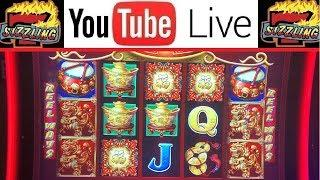 RARE WIN! 5 SYMBOL BONUS on DANCING DRUMS $5.28 BET! Sizzling Slot Jackpots Casino HIGH LIMIT Videos