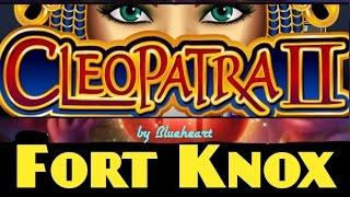 CLEOPATRA II slot machine (5c) Bonus with FORT KNOX Progressive WIN!