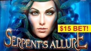 Serpent's Allure Slot - High Limit $15 Max Bet Bonus!