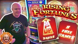 •RISING FORTUNES TRIPLE BONUS • $52 a Spin Bonus Round Wins!