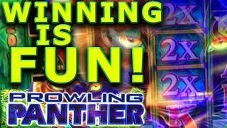 WINNING IS FUN!! • PROWLING PANTHER • BONUSES & LIVE PLAY • Casino WINS!