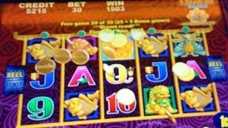 Aristocrat's 5 Dragons Deluxe Slot Machine - Mystery Choice, Finally A Nice Win  (Part 5 Of 5)