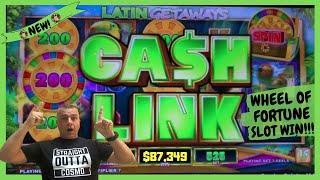 •Wheel Of Fortune Cash Link Slot Machine Win•