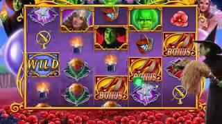 "WIZARD OF OZ: GOOD OR WICKED Video Slot Casino Game with a ""BIG WIN' FREE SPIN BONUS"