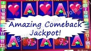 •$125 Max Bet $1Slot Machine Battle! AMAZING COMEBACK! Jackpot Handpay, Heart Vegas, Enchanted Heart