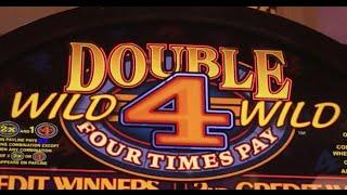 Double Wild 4x Pay •LIVE PLAY•  Slot Machine at Harrahs SoCal