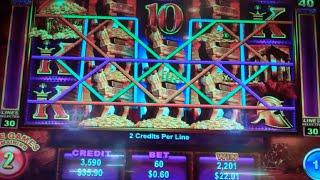 Trojan Treasure Slot Machine Bonus - 8 Free Games with Locking Wilds + Multipliers - Big Win (#2)